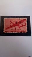 Timbre De Guerre France Poste Aérienne USA 6 Cents Yvert Et Tellier N°26 Surcharge R.F. Casablanca Type III - 1a. 1918-1940 Used