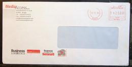 Belgium - Advertising Meter Franking Registered Cover EMA 2001 Brugge Media Access - 2000-...