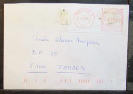 Belgium - Advertising Meter Franking Registered Cover EMA 1996 Brugge - 1980-99