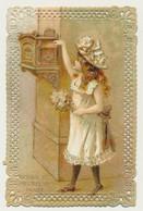 Carte Fantaisie Enfant Boîte Aux Lettres - Carte Dentelée - Gaufrée (embossée) - Bonne Et Heureuse Année - Autres