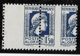 Algérie N°214 - Variété Piquage à Cheval - Paire - Neuf ** Sans Charnière - TB - Unused Stamps