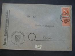 Deutschland Alliierte Besetzung Bizone 1946- Geschäfts-Brief Gelaufen Kleve - Kleve Mit Senkr. Paar MiNr. 5 - American/British Zone