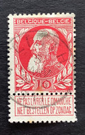 Leopold II Grove Baard OBP 74 - 10c Gestempeld  RELAIS LINTH - 1905 Breiter Bart