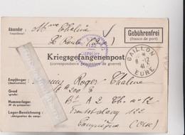 MARCOPHILIE - MILITARIA - COMPIEGNE - FRONTSTALAG 122, CAMP DE ROYALLIEU 1941 Corresp Pris Support écrit En Allemand - Oorlog 1939-45