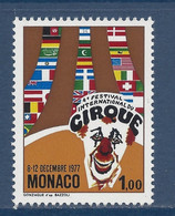 ⭐ Monaco - YT N° 1120 - Neuf Sans Charnière - 1977 ⭐ - Unused Stamps