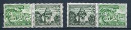 Deutsches Reich - Zusammendrück W136 ** - W138 */** - Se-Tenant