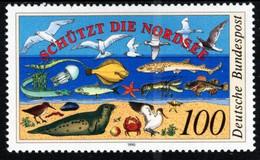 Germany - 1990 - Northern Sea Protection - Marine Fauna - Mint Stamp - Nuevos