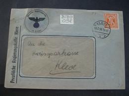 Deutschland Alliierte Besetzung Bizone 1946- Geschäfts-Brief Gelaufen Kleve - Kleve Regierungskasse Mit  MiNr. 5 - American/British Zone