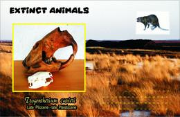 Vignettes De Fantaisie, Extinct Animals , Rodentia (2), Trogontherium Cuvieri - Fantasie Vignetten