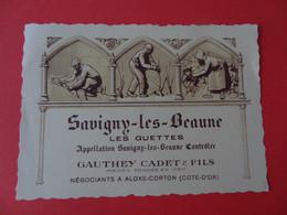 Etiquette Neuve Savigny Les Beaune Les Guettes Gauthey Cadet & Fils - Bourgogne