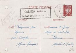 ENTIER POSTAL PETAIN POSTE AU MAROC POUR LA FRANCE  1942 - Covers & Documents