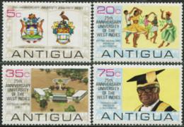 ANTIGUA 1974 25th Anniversary University Of The West Indies UWI Deer Pelican Bird Birds Animals Fauna MNH - Pelicans