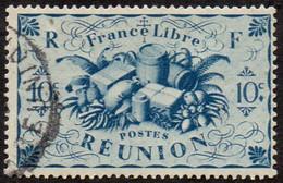 Réunion Obl. N° 234 - Détail De La Série De LONDRES - Productions - 10c Bleu - Oblitérés