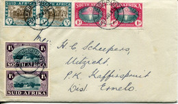 South Africa Südafrika Mi# 131-6 Used On Letter -  Huguenot Commemoration - FDC