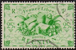Réunion Obl. N° 235 - Détail De La Série De Londres - Productions - 25c Vert-jaune - Oblitérés