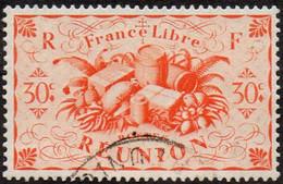 Réunion Obl. N° 236 - Détail De La Série De Londres - Productions - 30c Orange - Oblitérés
