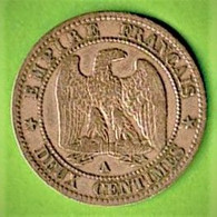 FRANCE / 2 CENTIMES / 1855 A CHIEN / NAPOLEON III - B. 2 Centimes