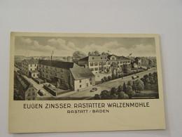 ALLEMAGNE-EUGEN ZINSSER RASTATTER WALZENMUHLE-RASTATT BADEN - Rastatt