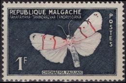MADAGASCAR Poste 344 ** MNH Papillon Butterfly Vlier Schmetterling - Madagascar (1960-...)