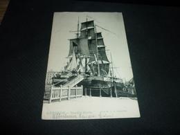 Cartes Postale  Belgique Ostende Marine Navire Ecole Animée - Oostende