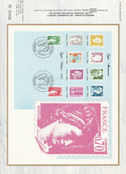 DOCUMENT FDC 1980 SABINES DE GANDON - 1980-1989