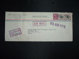 LR Par Avion Pour La CHINE HONG KONG TP WILSON S 1 X2 + Mc KINLEY 25c OBL. + OBL. FEB 18 1941 NEW YORK REGISTERED + BANQ - Covers & Documents