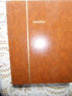 CLASSEUR POUR TIMBRES 21*27 CM-12 PAGES-9 BANDES PAR PAGE-PRESENCE ANNOTATIONS -BAS TRANCHE ABIME-ETAT D USAGE - Formato Grande, Sfondo Nero