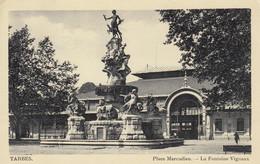 TARBES (Hautes-Pyrénées): Place Marcadieu - La Fontaine Vignaux - Tarbes