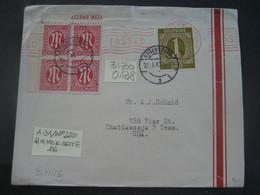 Deutschland Alliierte Besetzung Bizone 1947- Bedarfs-Brief Gelaufen Regensburg -  Chattanooga USA MiNr. ... - American/British Zone
