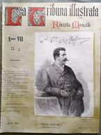 La Tribuna Illustrata Mensile Aprile 1896 Leoncavallo Péladan Pietro Vanni Pippo - Avant 1900