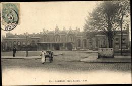 CPA Cambrai Nord, Gare Annexe, Blick Auf Den Bahnhof - Trains