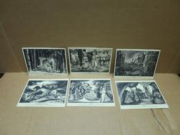 EXPOSITION PHILATELIQUE DE LA POSTE AERIENNE 1943 PARIS 6 Cartes Commémoratives - 1927-1959 Storia Postale