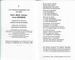 Henri Brosens Hoogstraten 1990 Ere Burgemeester - Religion & Esotericism