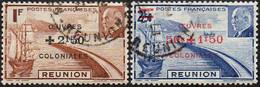 Réunion Obl. N° 249 Et 250 - Surchargés - Rade De Saint-Denis Et Maréchal Pétain - Oblitérés