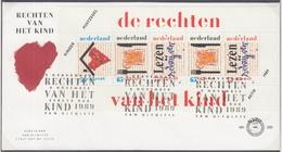 """NIEDERLANDE  Block 33, FDC, """"Voor Het Kind"""": Das Kind Und Seine Rechte, 1989 - Blocchi"""