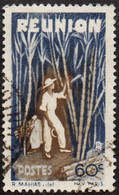 Réunion Obl. N° 266 - Détail De La Série émise En 1947 - 60c Bleu Et Brun - Usados
