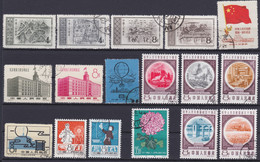 CHINA 1950 - 1961, Lot Of Small Series, Parts Of Series, Singles, All Cancelled, Stamps With Gum Never Hinged - Lots & Serien