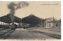 CPA  GRAY   La Gare Intérieure  N° 66 - Gray