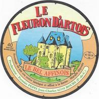 ETIQUETTE DE FROMAGE  NEUVE LE FLEURON D'ARTOIS PRODUCTEUR FERMIER PEPIN JEAN CHARLES BOURS PAS DE CALAIS - Cheese