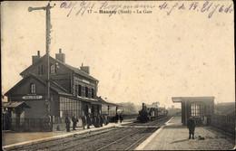 CPA Haussy Nord, La Gare, Bahnhof, Gleisseite - Other Municipalities