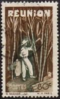 Réunion Obl. N° 267 - Détail De La Série émise En 1947 - 80c Brun Et Olive-foncé - Usados