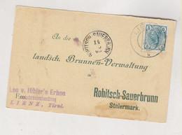 AUSTRIA,LIENZ 1905  Nice Postcard To SLOVENIA - Cartas