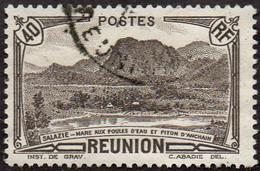 Réunion Obl. N° 164 - Vue -> Salazie, Mare Aux Poules D'eau Et Piton D'Auchain 40c Brun Noir - Oblitérés