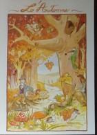 Petit Calendrier De Poche 1998 Illustration Saisons Humoristiques Automne Forêt Champignon écureuil Oiseau.... - Formato Piccolo : 1991-00