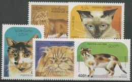 Laos 1995 Rassekatzen 1469/73 Postfrisch - Laos