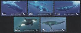 Ross-Gebiet 2010 - Mi-Nr. 119-123 A ** - MNH - Wale / Whales - Ongebruikt