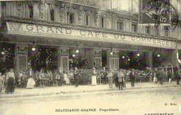 REPRODUCTION CARTE ANCIENNE - H11 - CARTES D'AUTREFOIS - MARSEILLE - CANNEBIERE - GRAND CAFE DU COMMERCE - Canebière, Centre Ville
