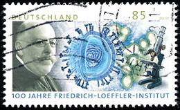 2010 Allemagne BRD Yv 2650 Friedrich Loeffler  (o) Oblitere TB Beau  (Yvert&Tellier) - Gebraucht