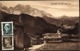 CPA Oulx Piemonte, Panorama Vom Ort U. Alpen - Andere