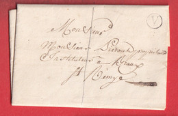 BOITE RURALE SEULE V ELISE DAUCOURT MARNE 1841 POUR BRAUX SAINT REMY - 1849-1876: Classic Period